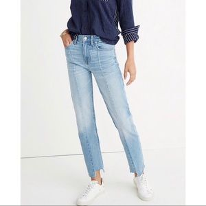 Madewell Light Wash Cruiser Step Hem Straight Jean